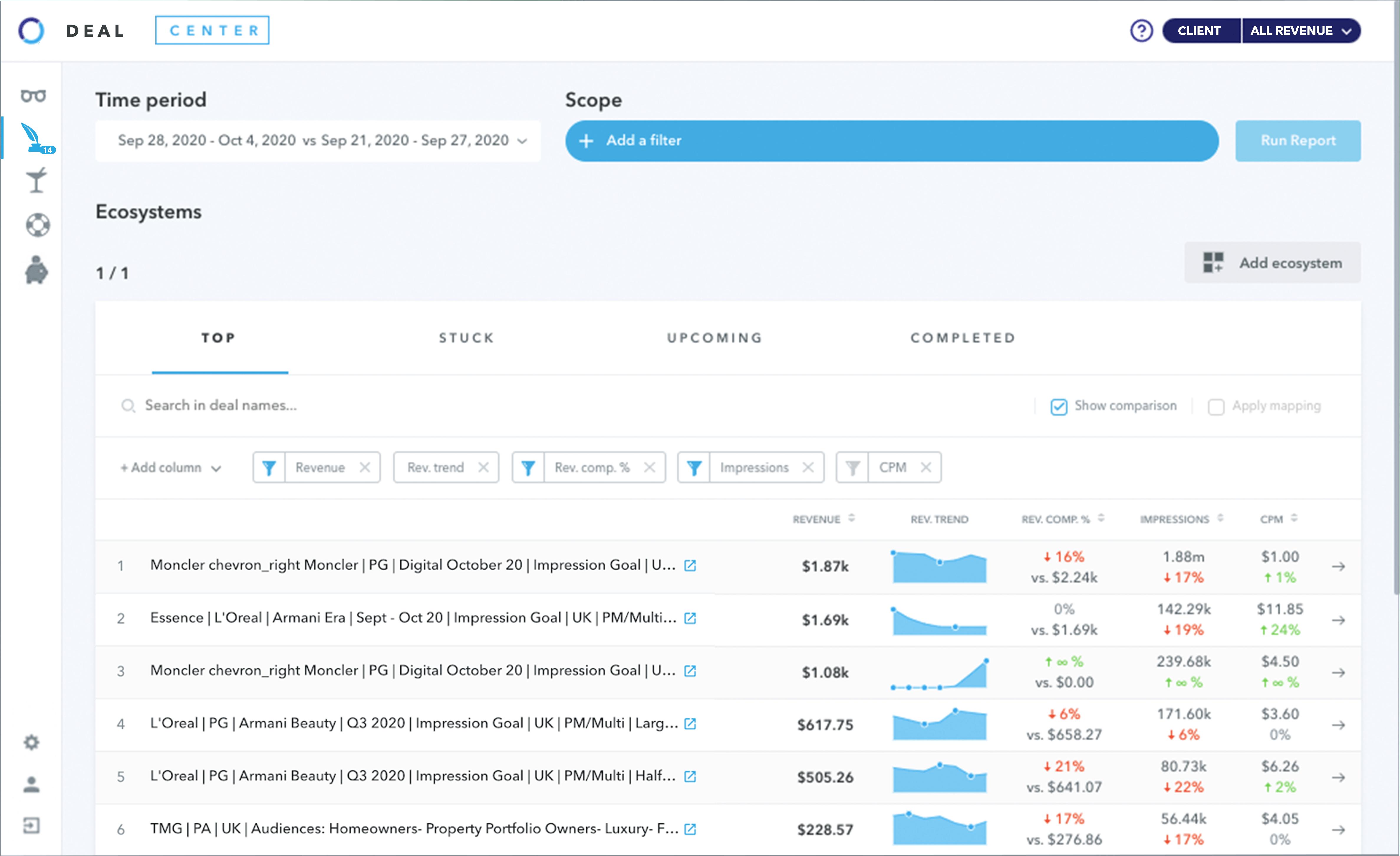 Adomik Deal UI image: Recover your lost programmatic deal revenue