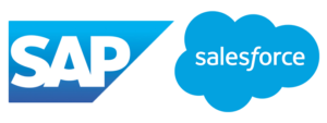 Salesforce and SAP logos - Adomik Data Engine