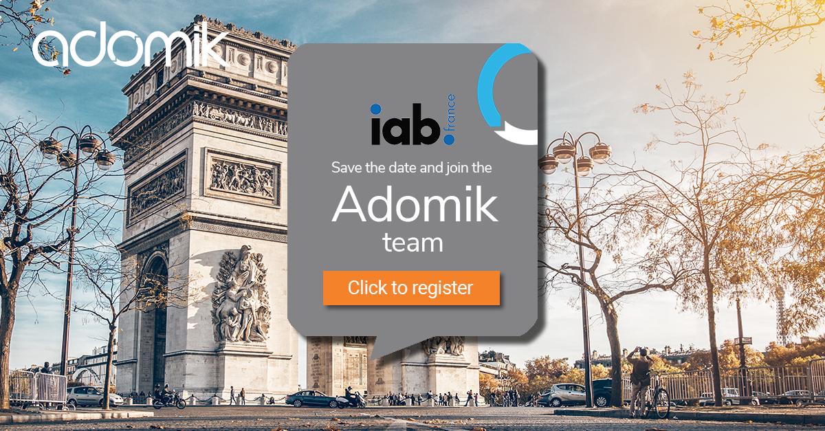 Adomik + IAB france France Baromètre Programmatique event