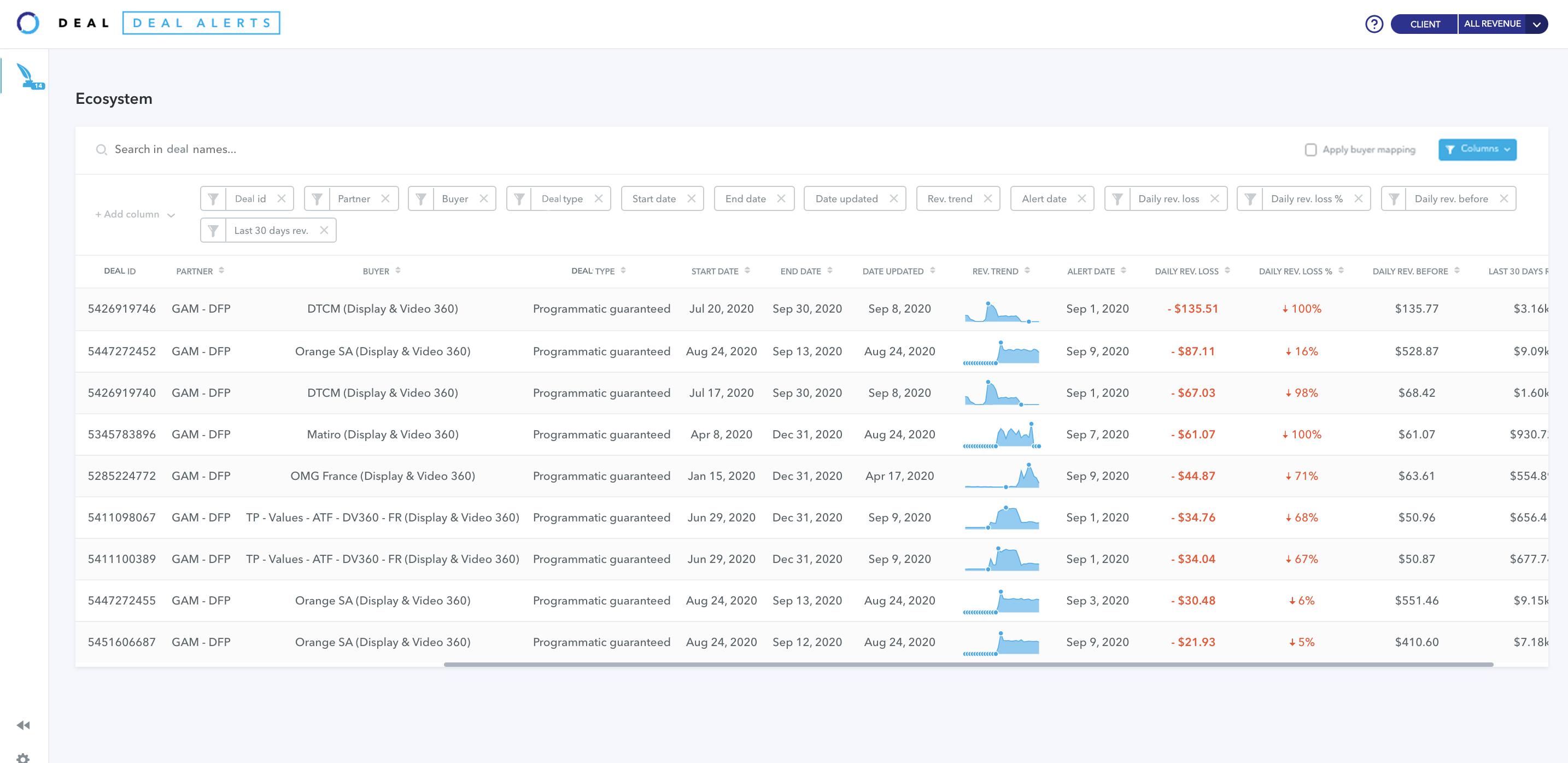 Adomik Deal - Deal Alerts UI