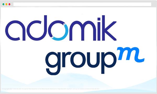 GroupM partners with Adomik